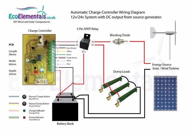 Charge Controller Kopplingsschema F 246 R Diy Vindkraftverk